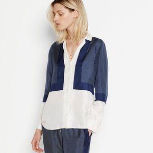 Equipment Femme Adalyn silk button shirt medium